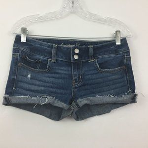 American Eagle Women's Jeans Shorts Size 4 CUT OFF